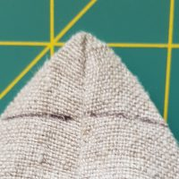 Dreieck für Bodennaht eingezeichnet