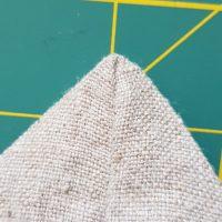 Dreieck für Bodennaht gelegt