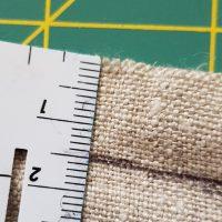 Brotbeutel_Nähanleitung: Einschlag für zugband einzeichnen